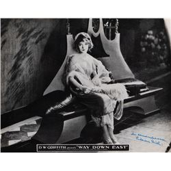 Collection of (3) signed photographs including Lillian Gish, Douglas Fairbanks and Ruby Keeler.