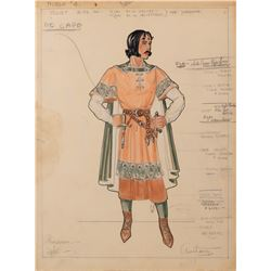 The Adventures of Robin Hood (5) costume sketches by Lon Anthony.