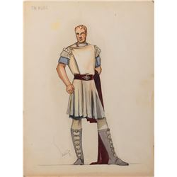 Richard Burton 'Marcellus Gallio' costume sketch by Santiago for The Robe.
