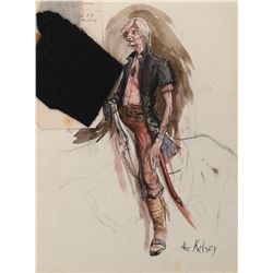 Joseph Wiseman 'Abe Kelsey' costume sketch by Dorothy Jeakins for The Unforgiven.