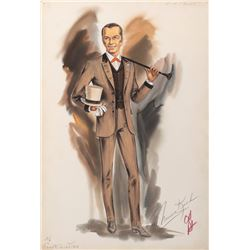 Frank Sinatra 'Zach Thomas' costume sketch by Norma Koch for 4 for Texas.