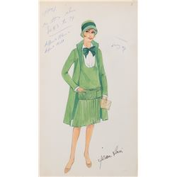 Julie Andrews 'Millie Dillmount' costume sketch by Jean Louis for Thoroughly Modern Millie.