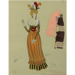 Barbra Streisand 'Daisy Gamble' & 'Gambler' costume sketches for On a Clear Day You Can See Forever.