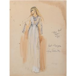 Lost Horizon female costume sketch by Guy Verhille.