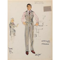 Jack Nicholson 'J. J. Gittes' costume sketch by Althea Sylbert for Chinatown.