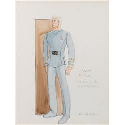 William Shatner 'Captain Kirk' costume sketch by Robert Fletcher for Star Trek: The Motion Picture.