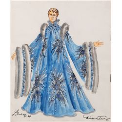 Liberace costume sketch by Michael Travis for a stage show.