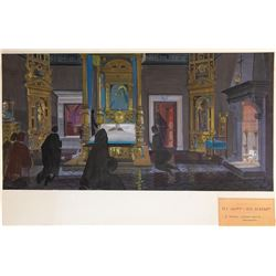 The Agony and the Ecstasy (2) set design paintings by John DeCuir.