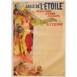 Salle de L'Etoile French Grande poster