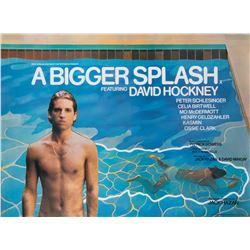 David Hockney A Bigger Splash UK quad poster.