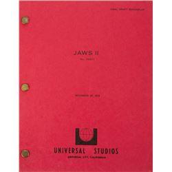 Jaws II Final Draft script.