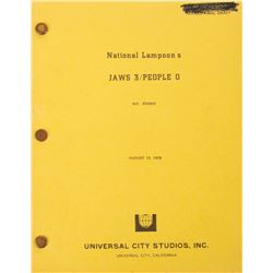 John Hughes Revised Final Draft script for the unrealized film National Lampoon's Jaws 3, People 0.