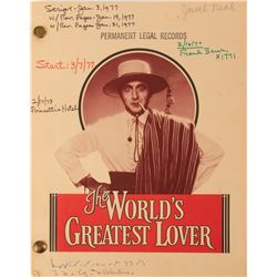 The World's Greatest Lover shooting script.