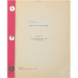 Revenge of the Pink Panther Shooting script.