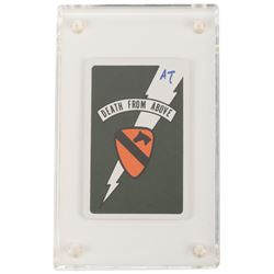 'Death From Above' King of Spades playing card from Apocalypse Now initialed Alex Tavolaris.