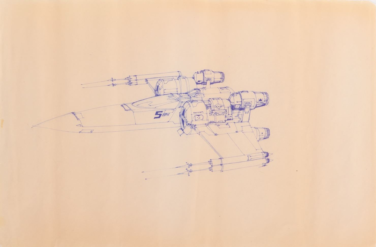 X Wing Fighter 2 Blueprints By Industrial Light Magic For Star Wars Episode Iv A New Hope