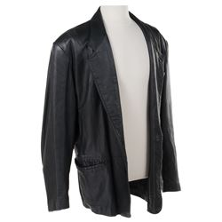 Jeff Goldblum 'Ian Malcolm' signature leather jacket from Jurassic Park.