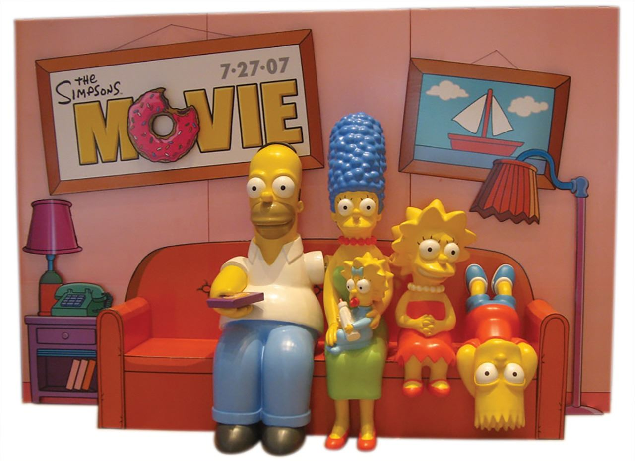 The Simpsons Movie Life Size Theater Promo Display