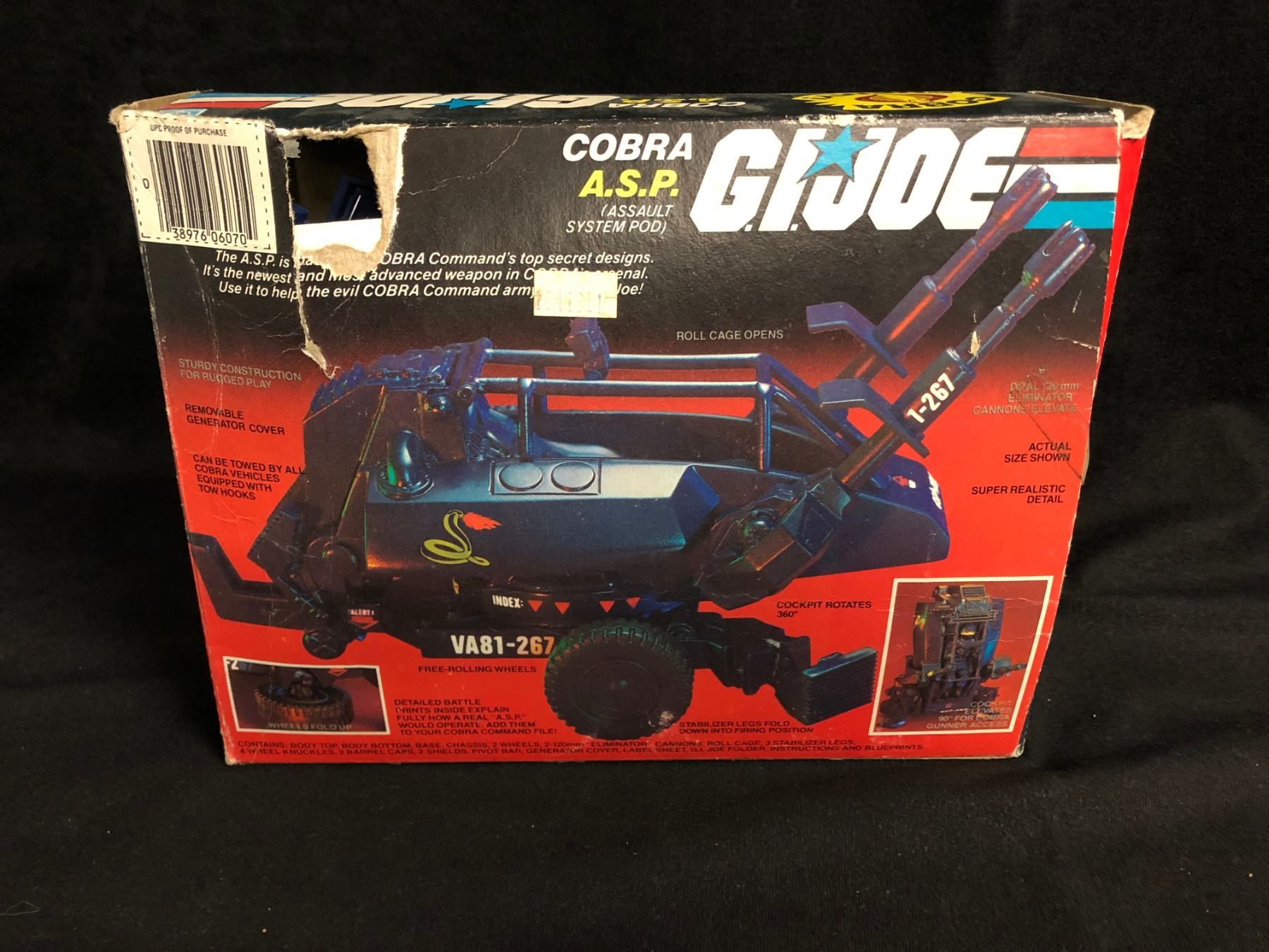 ONE only 1984 GI Joe Cobra ASP Wheel