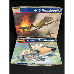 REVELL UNASSEMBLED MODEL KIT LOT (A-10 THUNDERBOLT II, F-105D THUNDERCHIEF)