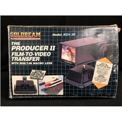 THE PRODUCER II FILM TO VIDEO TRANSFER W/ BUILT IN MACRO LENS (MODEL BGV-20)