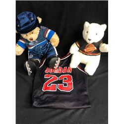 SPORTS FAN SOUVENIR LOT (TEDDY BEARS/ JERSEY)