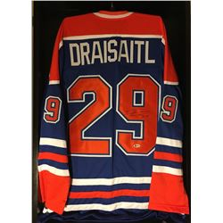 Leon Draisaitl Signed Oilers Jersey (Beckett COA)