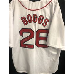 Wade Boggs Signed Red Sox Jersey (Beckett COA)