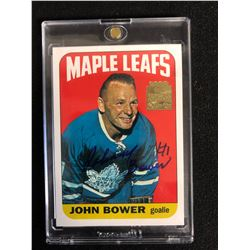 JOHNNY BOWER SIGNED 2002 TOPPS ARCHIVE HOCKEY CARD