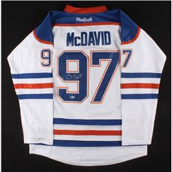 CONNOR McDAVID SIGNED OILERS CAPTAIN JERSEY (BECKETT COA)