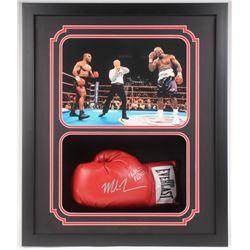 Mike Tyson Signed 17.5x22.5 Custom Framed Boxing Glove (PSA COA)