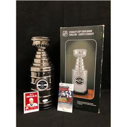 DOUG GILMOUR SIGNED STANLEY CUP COIN BANK (JSA COA)