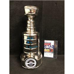 GRANT FUHR SIGNED MINI CERAMIC OILERS STANLEY CUP (JSA COA)