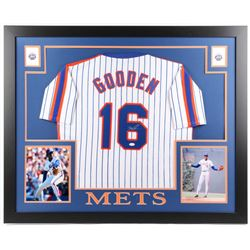"Dwight ""Doc"" Gooden Signed New York Mets 35x43 Custom Framed Jersey (JSA COA)"