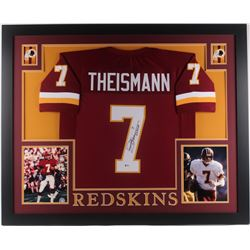 "Joe Theismann Signed Washington Redskins 35x43 Custom Framed Jersey Inscribed ""83 MVP"" (JSA COA)"