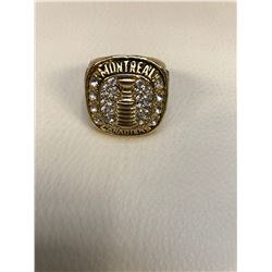 MONTREAL CANADIENS STANLEY CUP CHAMPIONSHIP REPLICA RING (EDDIE LACH)