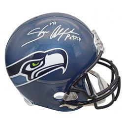 Shaun Alexander Signed Seattle Seahawks Full-Size Helmet (Beckett COA)