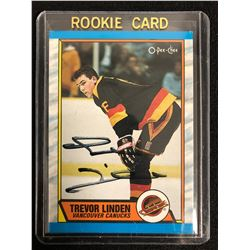 TREVOR LINDEN SIGNED O-PEE-CHEE ROOKIE CARD