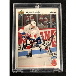 WAYNE GRETZKY SIGNED 1991-92 UPPER DECK CANADA CUP HOCKEY CARD