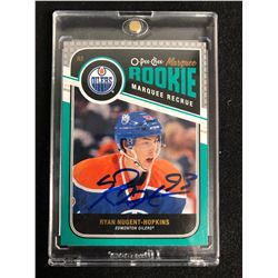 RYAN NUGENT-HOPKINS SIGNED O-PEE-CHEE MARQUEE ROOKIE HOCKEY CARD