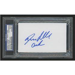 """Steven Adler Signed 3x5 Index Card Inscribed """"GnR"""" (PSA Encapsulated)"""
