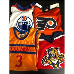 SPORTS JERSEYS LOT (FLYERS/ OILERS/ PANTHERS...)