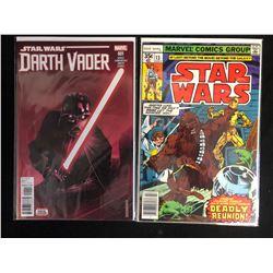STAR WARS COMIC BOOK LOT (DARTH VADER #001/ STAR WARS #13) MARVEL COMICS