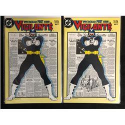 VIGILANTE #1 COMIC BOOK LOT (DC COMICS) -ONE COMIC SIGNED BY KURT POLLARD-