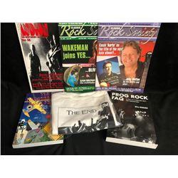 MUSIC BOOKS/ MAGAZINES/ T-SHIRT LOT