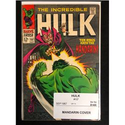 THE INCREDIBLE HULK #107 (MARVEL COMICS) 1967
