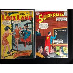 DC COMICS BOOK LOT (LOIS LANE #94/ SUPERMAN #176)