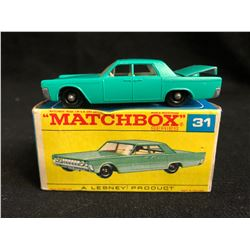 Vintage Lesney Matchbox #31 Lincoln Continental - Green 1964