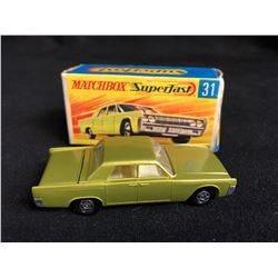 VINTAGE MATCHBOX SUPERFAST #31 Lincoln Continental