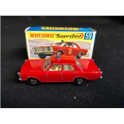 Matchbox Superfast #59 Ford Galaxie Fire Chief